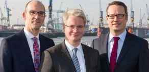 VSM-Geschäftsführung v.l.: Dr. R.S. Marquardt, Dr. R.Lüken, Ch. Schilling